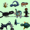 Pipes en verre animales populaires de main