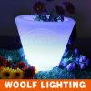 Color plástico del pote de flor del color que cambia el pote de flor del LED