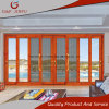 Super Quality Wood Look Aluminum Profile Double Glass Sliding DOOR