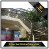 Balaustre moderno de encargo de la escalera del acero inoxidable del estilo