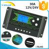 30A fora do controlador solar 12V/24V da carga da grade com LCD-Luminoso de Settable
