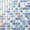 Azulejos de suelo calientes de la piscina del mosaico del vidrio cristalino de la venta