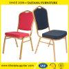 모방된 직물에 있는 연회 의자를 겹쳐 쌓이는 크라운 뒤