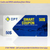 Cartão Combo de plástico - um cartão de crédito com um anexo fob