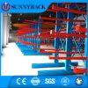 Armazém de Armazenamento Porta dupla de paletes lateral Rack Cantilever