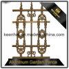 De hete Verkoop Aangepaste Poeder Met een laag bedekte Comités van de Omheining van het Aluminium voor de Decoratie van de Tuin
