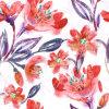 Tessuto arancione di stampa del fiore per Swimwear (ASQ083)