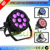IP65 LED Flat PAR Light 9PCS * 15W RGBWA + LEDs UV para equipamento de palco