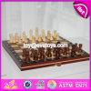 Tablero de ajedrez de madera educativo de los nuevos niños del diseño con los pedazos de ajedrez W11A055