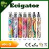 Ecigator Colorfull EGO-Q EGO-Q 건전지를 가진 전자 담배 장비