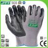 Anti-Abrasion泡のニトリルのコーティングまたは点が付いているオイル証拠によって編まれる安全作業手袋