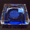 Crystal azul Ashtray para Office Decoration