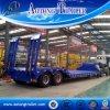 Semi Reboque de plataforma de eixo duplo, Design de reboque de baixa tonelagem de 30 toneladas para venda