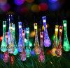 태양 끈 빛, 당 안뜰 야드 축제 잔디밭을%s 다채로운 Waterdrop를 점화하는 20의 LED Sogrand 옥외 정원 장식적인 가벼운 조경