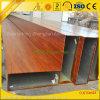 Câmaras de ar de alumínio da grão de madeira para a decoração do indicador e da porta