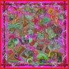 デジタルプリントカスタム方法絹のスカーフ(F13-DP-0009)