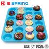 24 siliconi antiaderanti Bakeware della muffa della torta della focaccina dei bigné mini