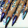 アイリスユニコーンのクロムミラーのカメレオンのきらめきの効果のマニキュアの顔料