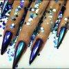 Blenden-Einhorn-Spiegel-Effekt-Nagel-Pigment-Nagel-Kunst-Dekoration