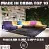 Sofá secional da tela da mobília americana de Uphostery do estilo