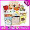 Il gioco di lusso del cuoco 2015 scherza il giocattolo della cucina della Camera del gioco, il giocattolo stabilito della cucina di legno sveglia, il giocattolo di legno della cucina di disegno della stufa di Similation (W10C146)