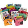 Sacs promotionnels de cadeau de mini d'impression papier de carton avec des sacs de porteur de papier de poignée/carton