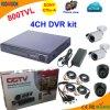 4 набор канала автономный DVR с камерой Сони 800tvl