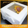 Cajas de regalo blanco con Clear Tapas (BLF-GB124)