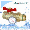 Qf/B-25 Ball Valve für Removable Connector mit Gauge/Gauge Ball Valve