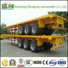 3 Aanhangwagen van de Vrachtwagen van de Lading van de Container van het Nut van assen 40FT Flatbed Semi