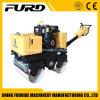 Direction hydraulique diesel marcher derrière rouleau vibratoire de tambour en tandem