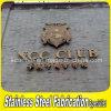 Construir anunciando a cor de PVD revestiu 304 sinais do logotipo do metal da calha de aço inoxidável