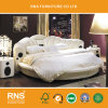 9#-1круглые кровати круглые кровати высокого качества современной спальне кровати за круглым столом из натуральной кожи