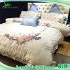 刺繍されたデラックスな綿のサテンの敷布