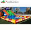 Proyecto inflable de encargo del parque del agua, parque al aire libre del agua abierta inflable