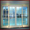 Ventana de aluminio de vidrio templado de vidrio simple / doble