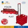 Rode Toolbox van de Laars van Vouwen Vlakke Plastic