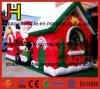 Chambre de la grotte de Santa gonflable de château de Joyeux Noël d'air