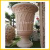 Bac de marbre beige de planteur de Flowerpot et de pierre pour le grand dos