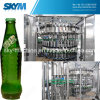 Cola de la botella de cristal/máquina que capsula de relleno de la bebida de la soda