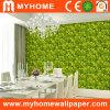 Le vert tombé laisse le papier peint pour la décoration de mur