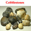 Cobblestone grigio del fiume naturale/Cobblestone del granito/modific il terrenoare