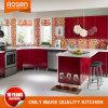 ニスの積層の台所食器棚の赤いデザイン