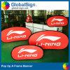 Orizzontali su ordinazione di pubblicità diretta della fabbrica della Cina schioccano in su una bandiera della pagina