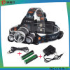 3000lm 3 LED 3 크리 사람 Xml T6 LED Headlamp