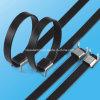 PVC에 의하여 입히는 스테인리스 케이블 동점 날개 유형 Zip 동점