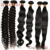 自然で黒いバージンのインドの毛の織り方(ZYWEFT-262)