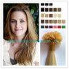 Capelli di Remy, capelli del Virgin, estensione dei capelli umani (U-Capovolgere i capelli), capelli brasiliani, estensione dei capelli