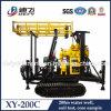 Mouvement facile de machine de plate-forme de forage de puits d'eau de chenille de Xy-200c 200m