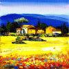 Het populaire Olieverfschilderij van het Landschap van het Dorp voor de Decoratie van het Huis